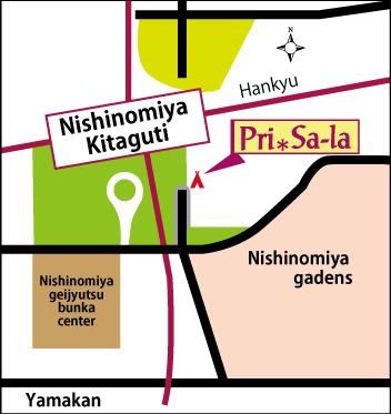 プリサーラの地図です